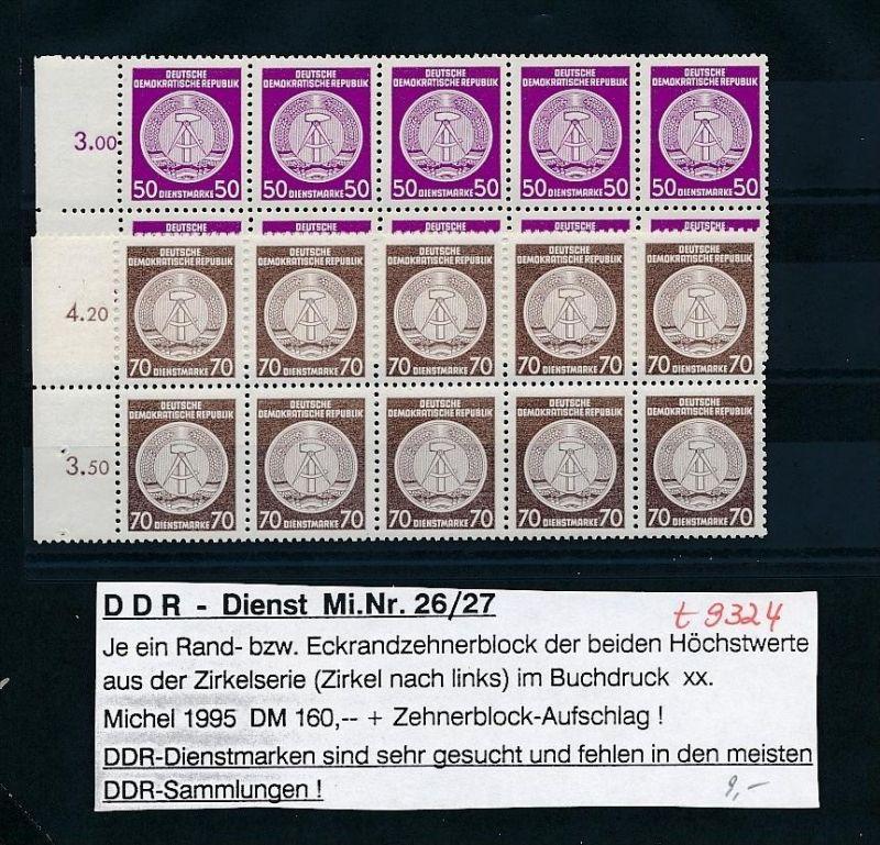 DDR Dienst     -nettes Lot       ( t9324 ) siehe scan !