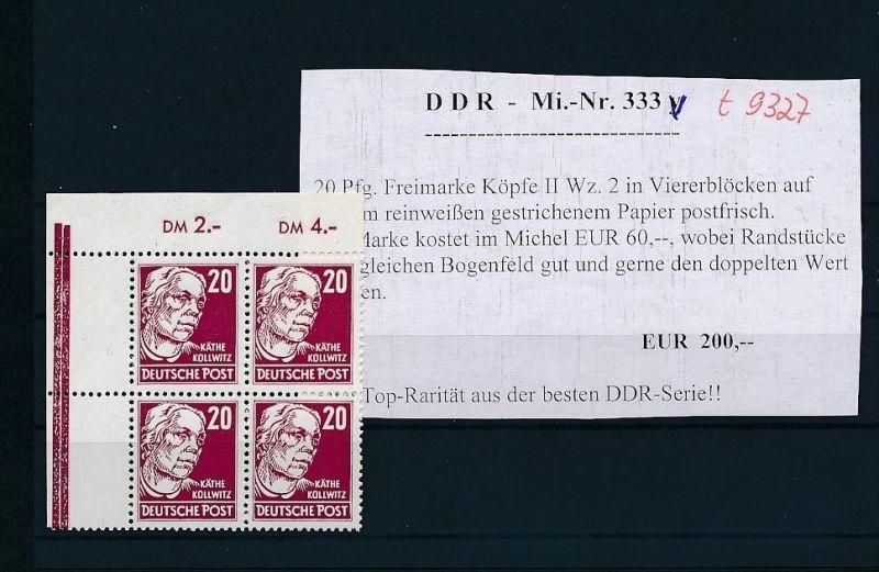 DDR  4er Block 333  **  ER.       ( t9327 ) siehe scan ! 0