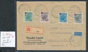 Rheinland Pfalz  42-45 nur o gerechnet  - netter Beleg    (t9941  ) siehe Bild