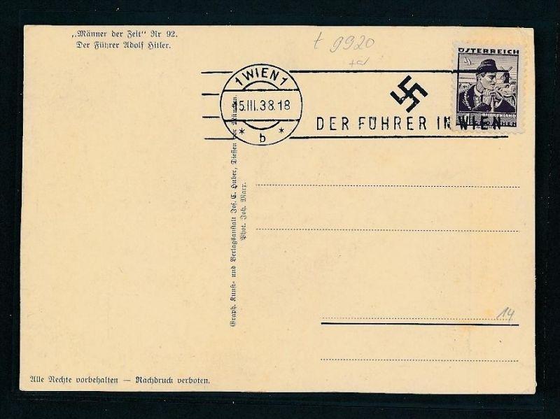 D.-Reich   Propaganda Karte    (t9920  ) siehe Bild 1