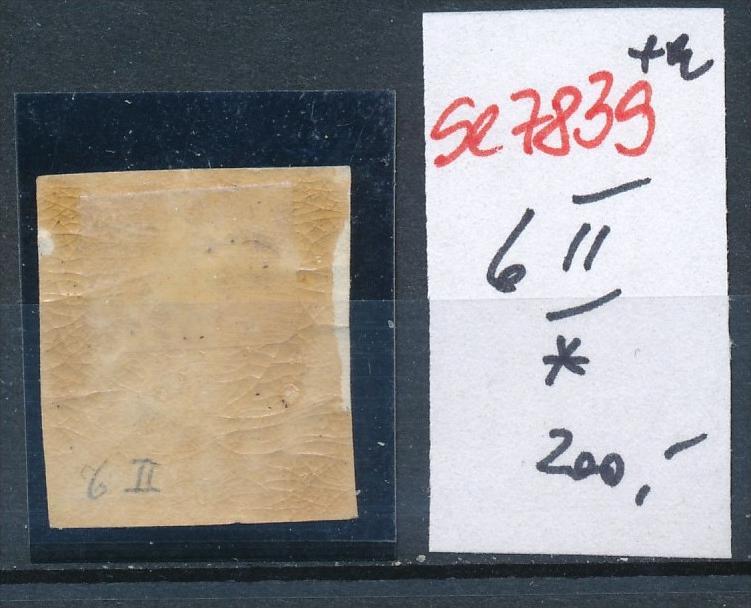 Österreich Nr. 6 II *  (se7839   ) siehe Bild 1