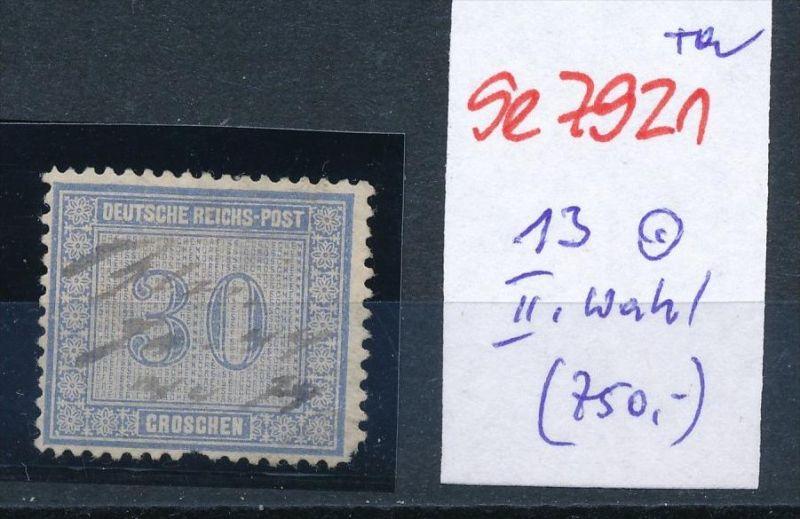 D.-Reich Nr. 13  -Federstrich  (se7921   ) siehe Bild  !! 0