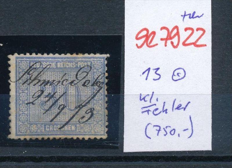 D.-Reich Nr. 13  -Federstrich  (se7922   ) siehe Bild  !! 0