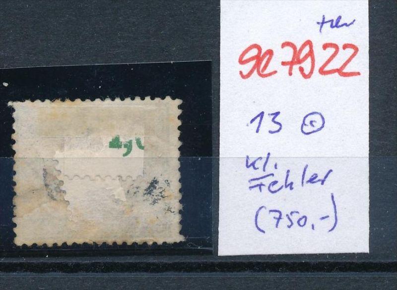 D.-Reich Nr. 13  -Federstrich  (se7922   ) siehe Bild  !! 1