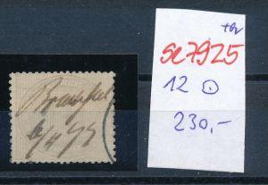 D.-Reich Nr. 12  -Federstrich  (se7925   ) siehe Bild  !!
