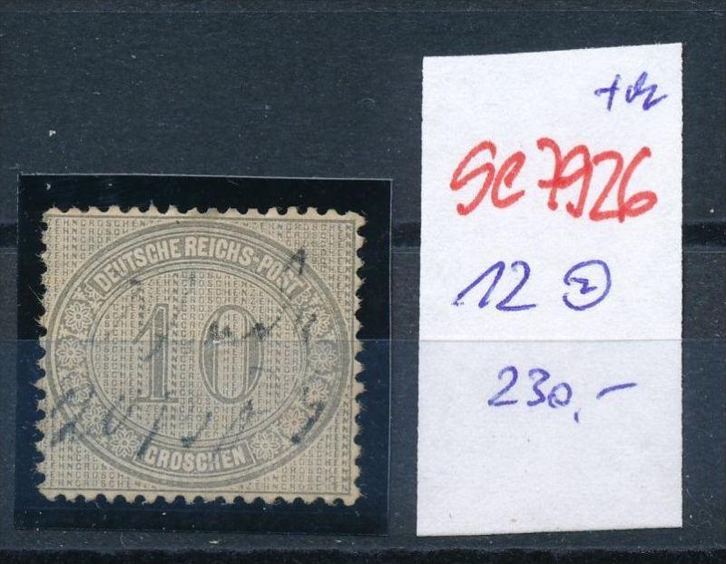 D.-Reich Nr. 12  -Federstrich  (se7926   ) siehe Bild  !! 0