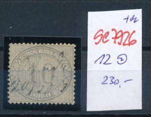 D.-Reich Nr. 12  -Federstrich  (se7926   ) siehe Bild  !!