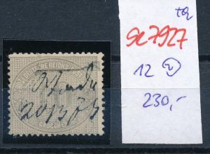 D.-Reich Nr. 12  -Federstrich  (se7927   ) siehe Bild  !!