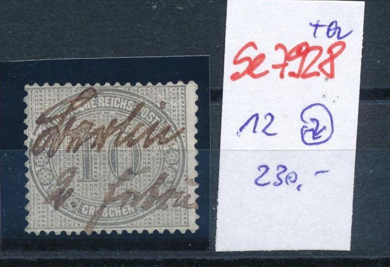 D.-Reich Nr. 12  -Federstrich  (se7928   ) siehe Bild  !!