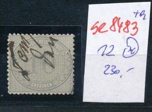 D.-Reich Nr. 12  -Federstrich  (se8483  ) siehe Bild  !!