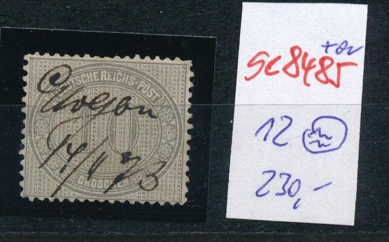 D.-Reich Nr. 12  -Federstrich  (se8485  ) siehe Bild  !!