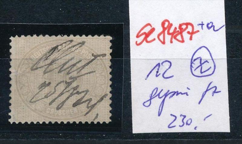 D.-Reich Nr. 12  -Federstrich  (se8487  ) siehe Bild  !!