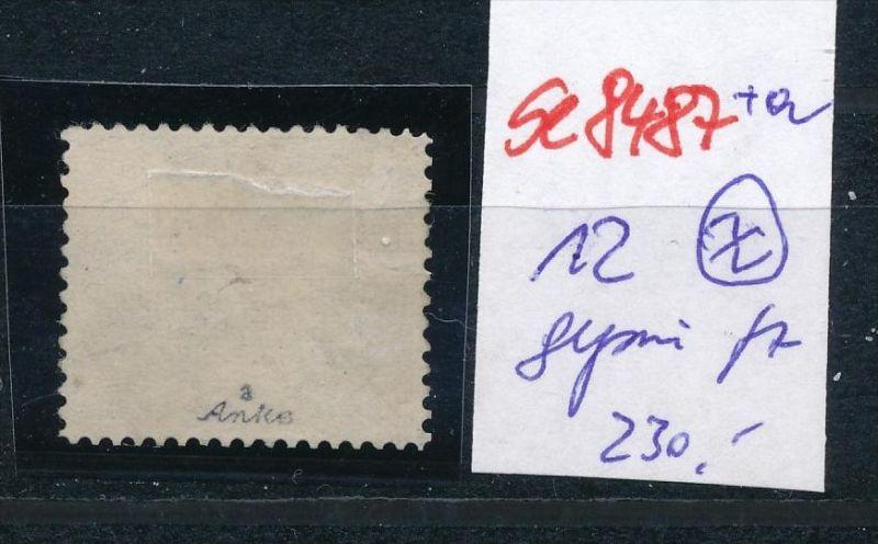 D.-Reich Nr. 12  -Federstrich  (se8487  ) siehe Bild  !! 1
