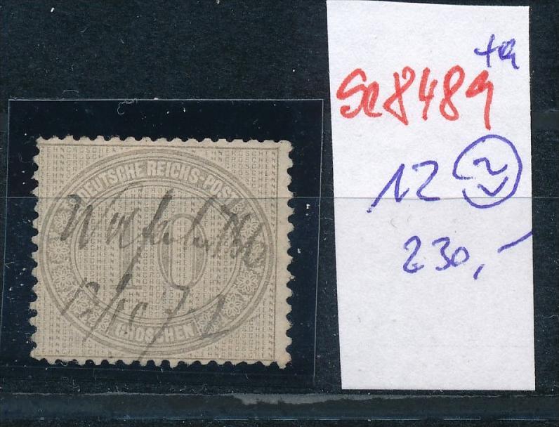 D.-Reich Nr. 12  -Federstrich  (se8489  ) siehe Bild  !!