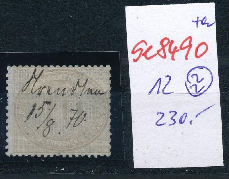 D.-Reich Nr. 12  -Federstrich  (se8490  ) siehe Bild  !!