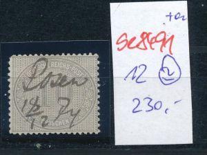 D.-Reich Nr. 12  -Federstrich  (se8491  ) siehe Bild  !!