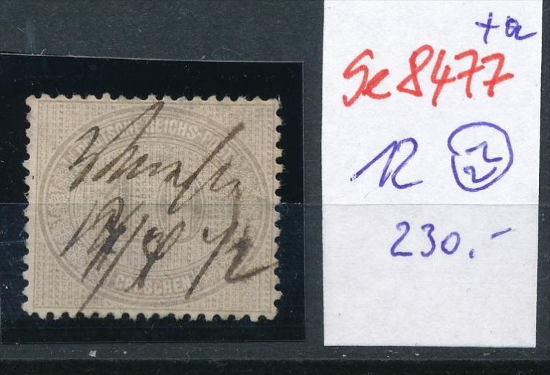 D.-Reich Nr. 12  -Federstrich  (se8477  ) siehe Bild  !!
