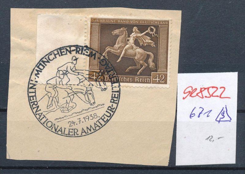 D.-Reich Nr.  671  -Sonder Stempel   (se8522  ) siehe Bild  !! 0