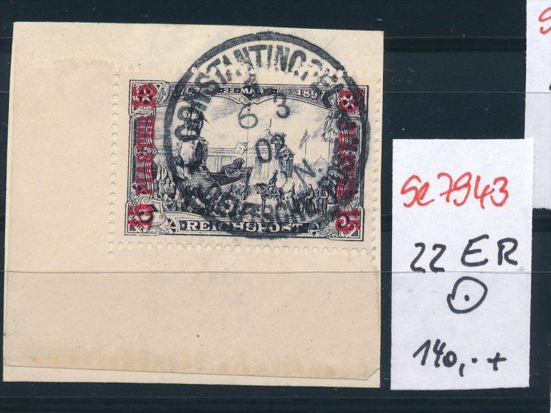 D.Post in der Türkei   Nr. 22 ER  o  ...    (se7943  ) siehe Bild  !! 0