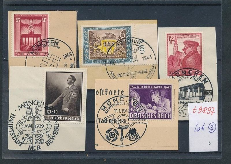 D.-Reich Lot Sonder Stempel   (t9897  ) siehe Bild  !! 0
