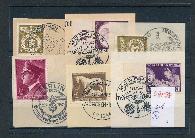 D.-Reich Lot Sonder Stempel   (t9898  ) siehe Bild  !!