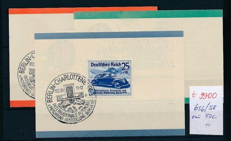 D.-Reich - 656-58 minni FDC  (t9900  ) siehe Bild  !! 0