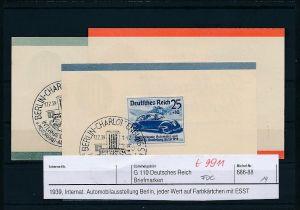 D.-Reich - 656-58 minni FDC  (t9911  ) siehe Bild  !!