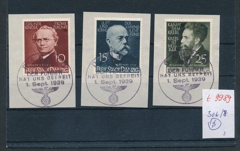 Danzig Nr. 306-8 Sonder Stempel  (t9989  ) siehe Bild  !! 0