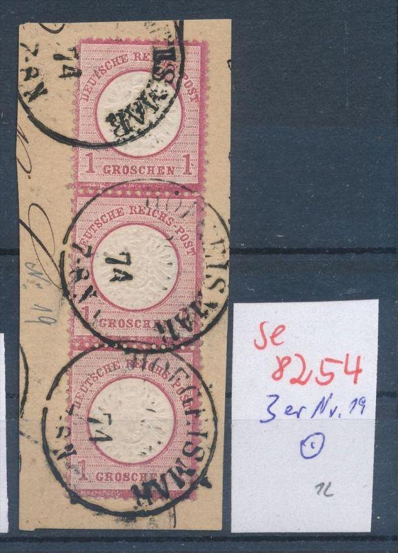 D.-Reich Nr. 19  3er Streifen ... (se8254  ) siehe Bild  !! 0