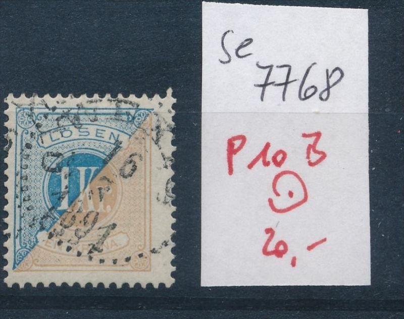 Schweden Porto  Nr. 10 B   o (se 7768 ) siehe scan