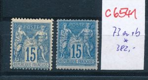 Frankreich - Nr. 73 a+ b  *   (c 6541 ) -siehe Bild