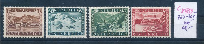 Österreich     Nr. 767- 770 II  ** (c8433 ) siehe scan