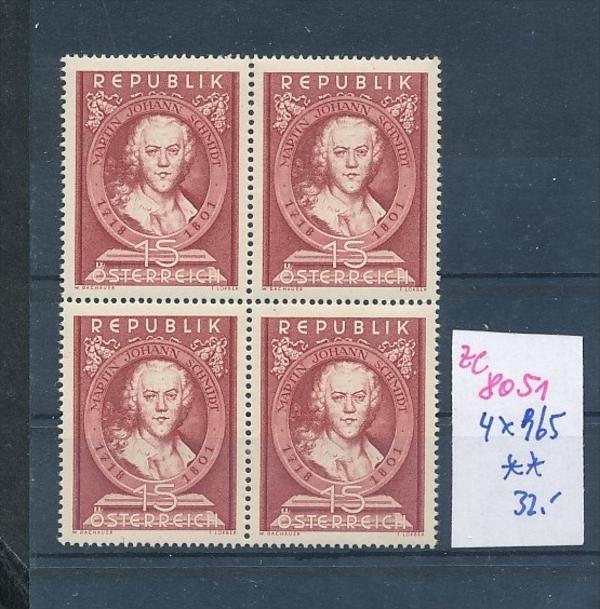 Österreich     Nr. 4x 965 **  (ze8051 ) siehe scan