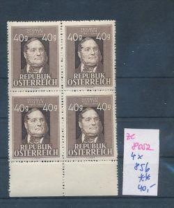 Österreich     Nr. 4x 856 **  (ze8052 ) siehe scan