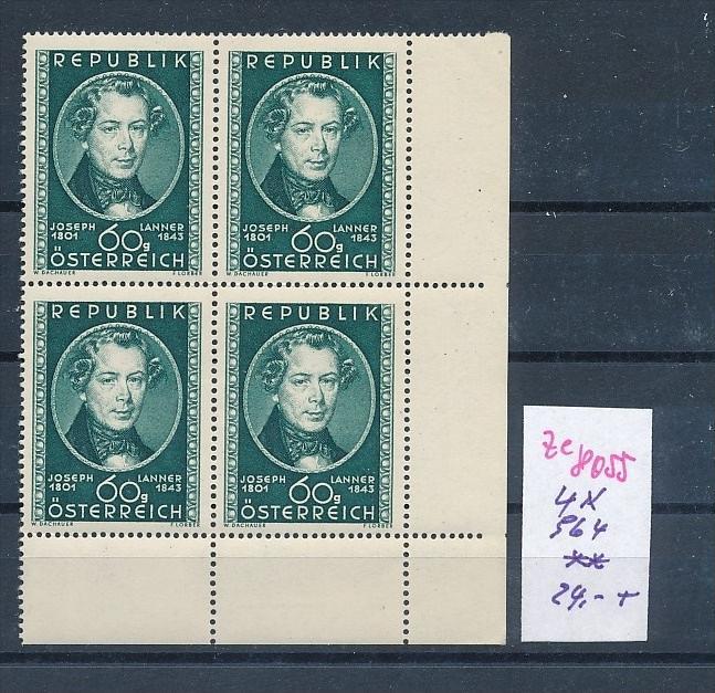 Österreich     Nr. 4x 964**  (ze8055 ) siehe scan