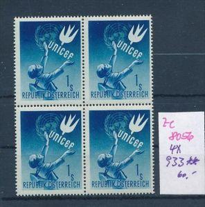 Österreich     Nr. 4x 933  **  (ze8056 ) siehe scan