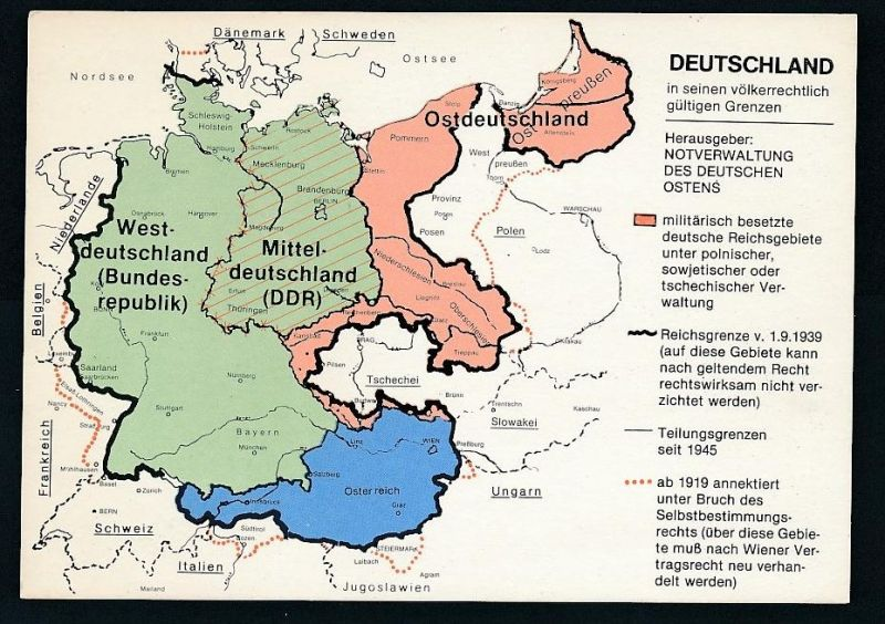 Karte Ostdeutschland.Ostdeutschland Alte Karte Oo1105 Siehe Scan