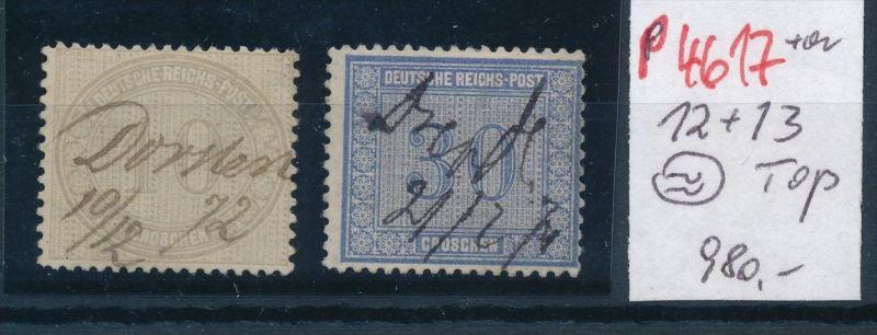 D.-Reich Nr. 12+13 o -schönes Stück    (p4617  ) siehe scan