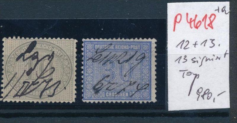 D.-Reich Nr. 12+13 o -schönes Stück    (p4618  ) siehe scan