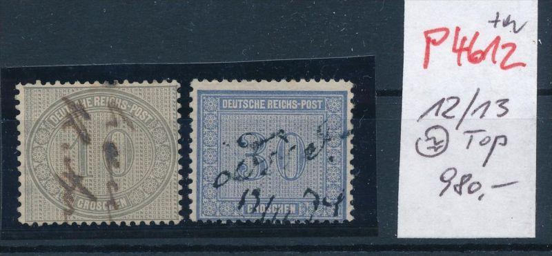 D.-Reich Nr. 12+13   o -schönes Stück    (p4612  ) siehe scan