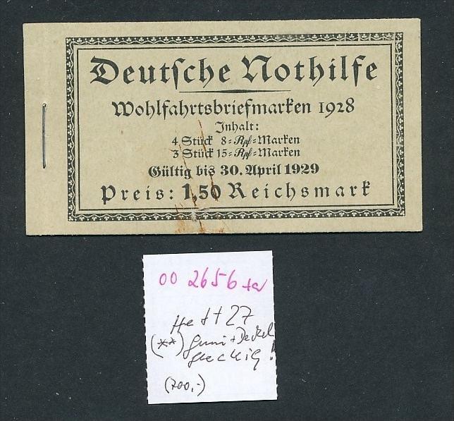 D.Reich Heft 27  II.Wahl     (oo2656  ) siehe scan