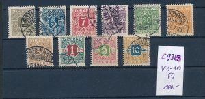 DK Nr. V 1-10 o    (c9383 ) siehe scan