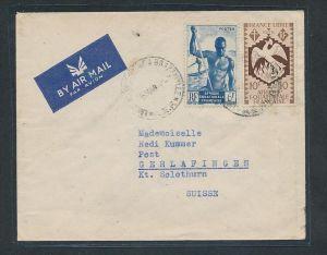 Franz.Kolonie Brief in die Schweiz   netter  Beleg... ( oo2719 )  siehe scan vergrößert