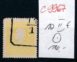 Österreich -Nr. 10 II f  o   (c9967 )  siehe scan vergrößert