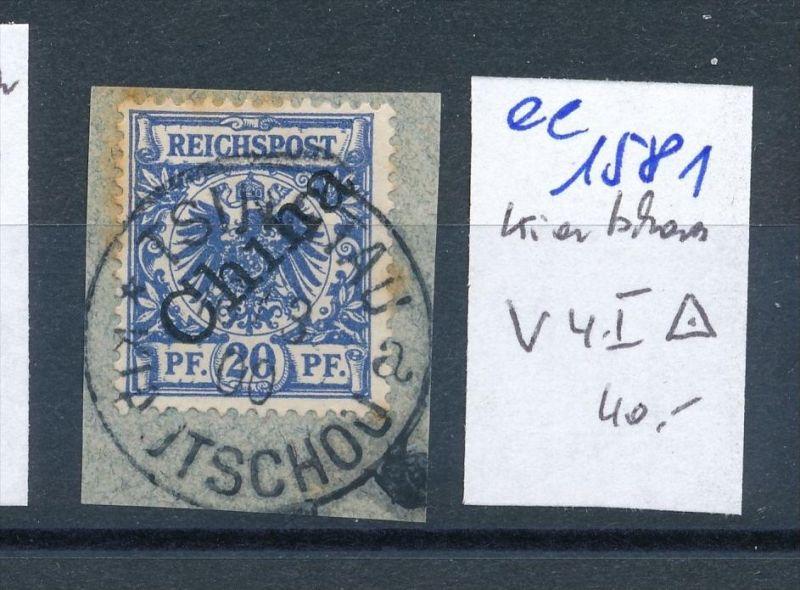Kiatschao    Nr.  V 4 I   o  (ee1581  )  .....-siehe scan vergrößert