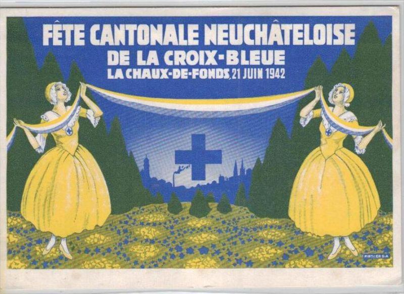 CH-blaues Kreuz schöne alte   Karte  (ka2901 )  .....-siehe scan vergrößert