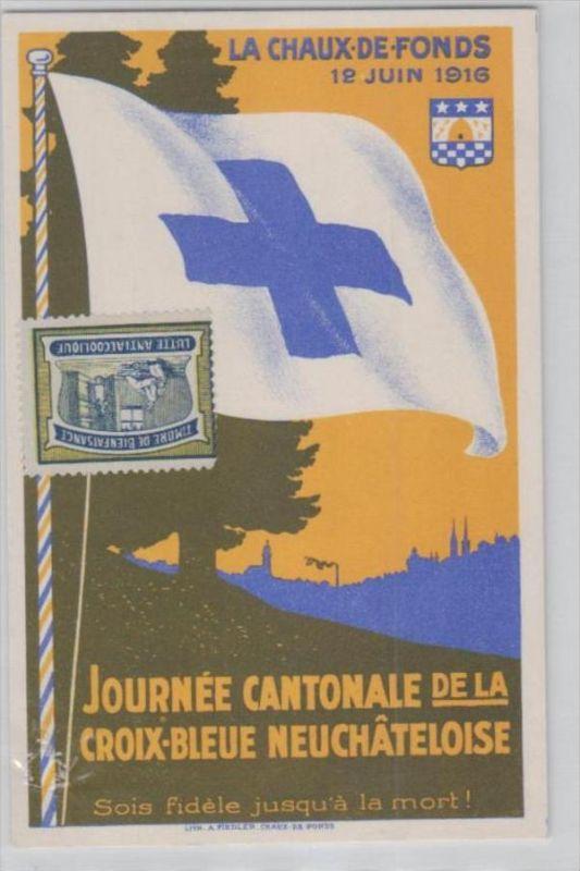 ...blaues Kreuz schöne alte   Karte  (ka2681 )  .....-siehe scan vergrößert