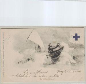 Schweiz-blaues Kreuz  -alte Karte  (ka2851  ) siehe scan  vergrößert