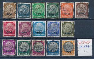 Elsaß   Nr. 1-16    o   (oo3415  ) siehe scan