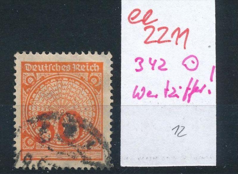 D.-Reich Nr.342 Wertziffer      o   (ee2211  ) siehe scan